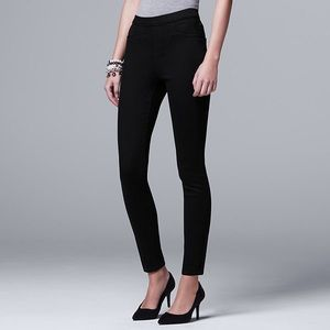 Simply Vera Wang Mid Rise Black Pull On Jeggings